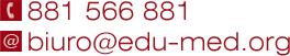 Kursy pierwszej pomocy - EDU-MED - Kontakt